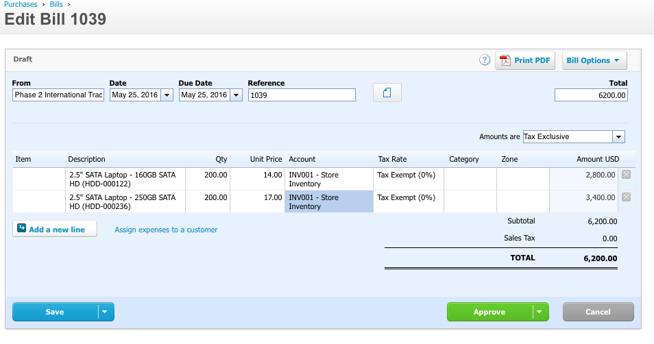 Xero Accounting Integration Sample Postings Lightspeed